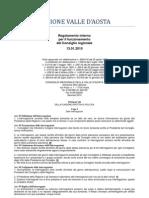 59. Regolamento Interno Consiglio Valle d'Aosta 13.01.2010 - Titolo 7