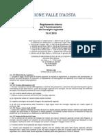 60. Regolamento Interno Consiglio Valle d'Aosta 13.01.2010 - Titolo 8