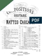 Mateo Carcassi Op. 4 Seis Valses