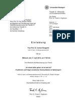Einladung Antrittsvorlesung Frau Prof. Borggrefe