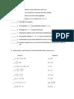 Math Test Paper 1