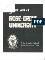 Propagande - 1955 - Invitation to Study at Rose-Croix University