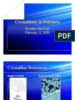 Crystallinity in Polymers-1