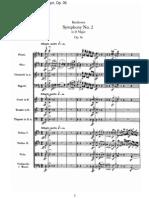 Beethoven - Sinfonia n°2 op.36 - Partitura (1° mov.)