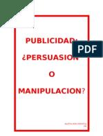 Publicidad Persuasion o Manipulacion