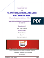 survey for new launching of male body wash