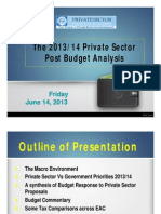 Private Sector Post Budget Analysis Pbl Presentation 140613 2