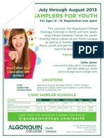 Perth Campus Summer Sampler June6 2013 (2)
