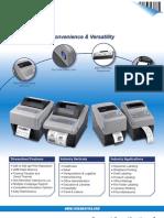 Sato CG2/CG4 Series Desktop Printer Datasheet