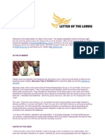 Letter of the Lords - June 21, 2013