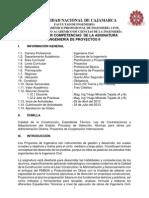 Silabo Ingenieria Proyectos II Abril 2013-i