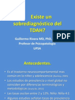 Existe un sobrediagnostico del Trastorno de Déficit de Atención e Hiperactividad?