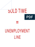 SOLD TIME = Unemployment Line