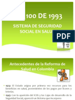 Ley 100 de 1993 Parte 1