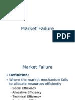 Market Failure & Efficiency