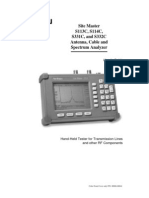Anritsu Site Master S332C Antenna Cable and Spectrum Analyzer Users Guide