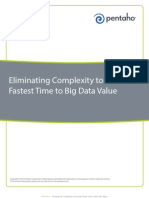 Eliminating Complexity to Ensure Fastest Time to Big Data Value