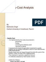 Quality Cost Analysis