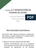 HIGIENE Y DESINFECCIÓN EN PLANTAS DE LECHES FINAL