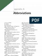 Appendix a - Abbreviations