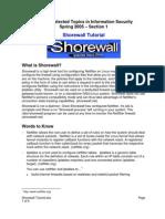 Shorewall Tutorial