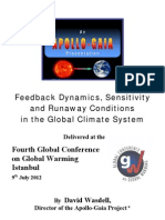 David Wasdell - Feedback Dynamics, Sensitivity and Runaway Conditions in the Global Climate System - July 2012