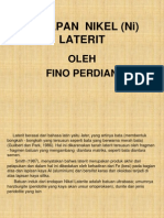 Bahan Presentasi Fino 2 ( Nikel Laterit)