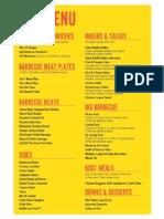 dickey's menu