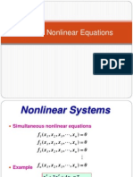 System of Non Linear Equations