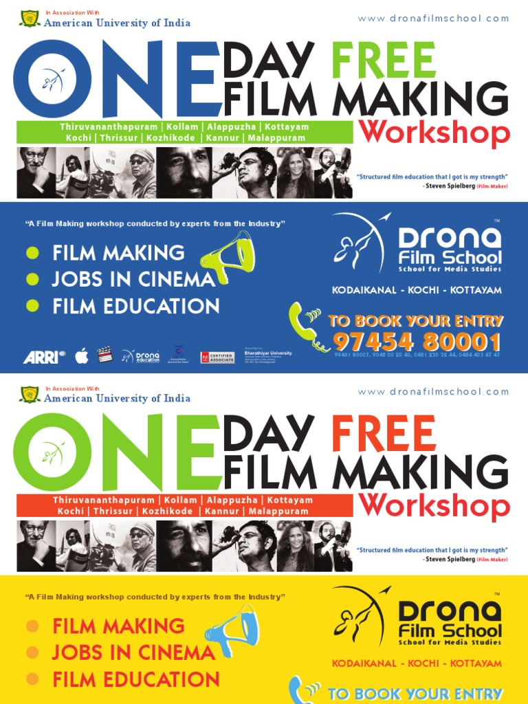 Poster For Drona Film School Promotion Filmmaking Academia