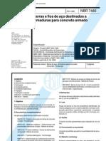 Barras e Fios de Aco Para Armaduras Para Concreto NBR 07480 - 1996