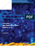 Tektronix IRIS Frameworx 10 eTOM Certification Report