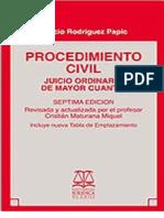 Procedimiento Civil. Juicio ordinario de mayor cuantía