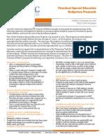 Preschool special education budget fact sheet, NYSAC