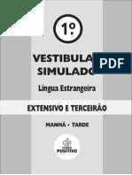 1o Vest Simulado - Extensivo - Curso Positivo - Lingua Estrangeira - m