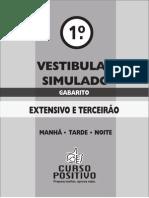 1o Vest Simulado - Extensivo-curso Positivo - Gabarito