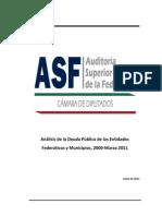 Análisis de la Deuda Pública de las Entidades 2011