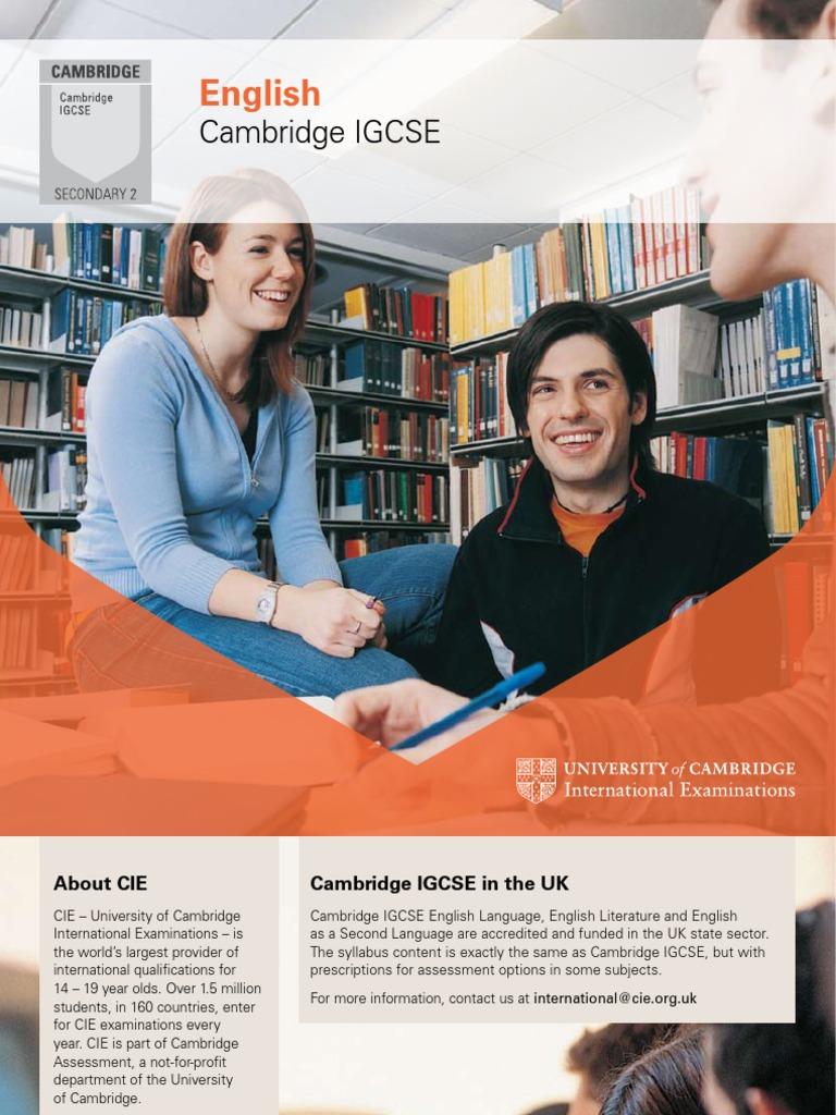 igcse english camdridge guide educational assessment and