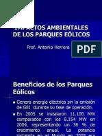 IMPACTOS AMBIENTALES DE LOS PARQUES EÓLICOS