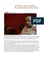 From Merchant Prince to Akbar Brothers Inayat Akbarally and the Bohras of Sri Lanka
