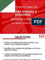Como Participar en Ferias Ruedas y Misiones Comerciales