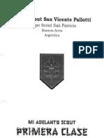 Mi Adelanto Scout - Progresión Primera Clase