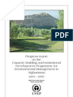 UNEP - Afghan Env Mgmt Cpacity Building 01-06