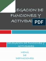 Delegacion de Funciones