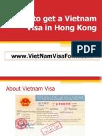 Vietnam Visa Hong Kong