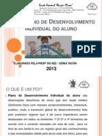 PDI – Plano de Desenvolvimento Individual do aluno