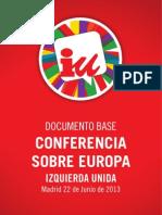 Conferencia Sobre Europa IU