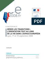 conferinta ue- GÉRER LES TRANSITIONS L'ORIENTATION TOUT AU LONG DE LA VIE DANS L'ESPACE EUROPÉEN