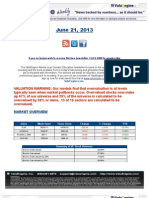 ValuEngine Weekly Newsletter June 21, 2013