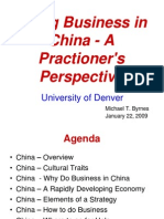 Doing Business in China - University of Denver